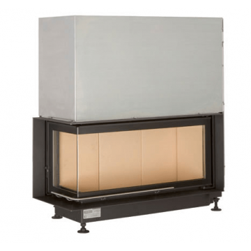 Fireplace Brunner 38/86/36 Architektur-Kamine Eck left lifting door