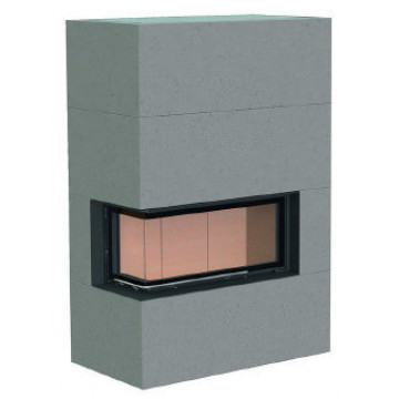 Fireplace Теплоаккумулирующий камин Brunner BSK 07 / Eck-Kamin 38/86/36 left lifting door lower