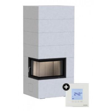 Fireplace Brunner BSG 02 left с дополнительной аккумуляцией сверху + EAS