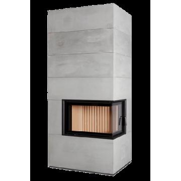 Fireplace Brunner BSG 02 right с дополнительной аккумуляцией сбоку
