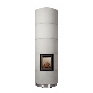 Fireplace Brunner KSO 25 r with thermal concrete cladding