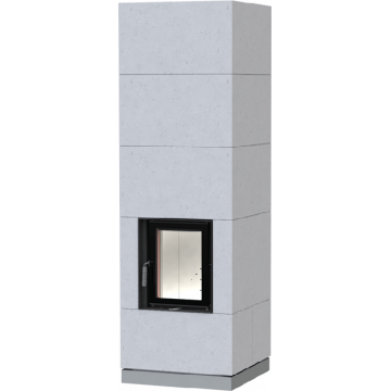 Fireplace Brunner KSO 33 q with thermal concrete cladding