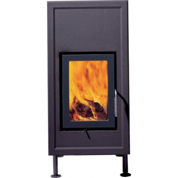 Stove Brunner HKD 6.1 cast iron front plate/double-glazing/anthracite (classic front plate from massive)