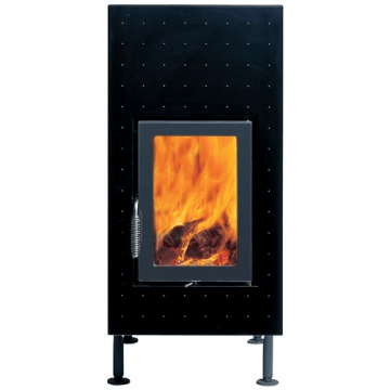 Stove Brunner HKD 6.1 steel front plate/double-glazing/anthracite