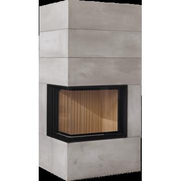 Fireplace Brunner BSK 02 / Eck-Kamin 57/67/44 left lifting door