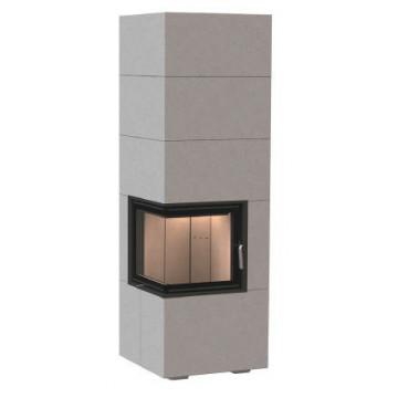 Fireplace Brunner BSK 09 Eck-Kamin 42/42/42 side-opening door high