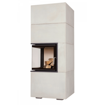 Fireplace Brunner BSK 09 Eck-Kamin 42/42/42 side-opening door lower