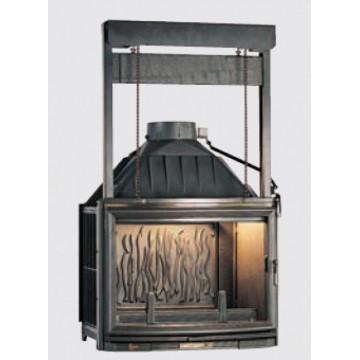Fireplace Seguin Panoramic с подъемной дверцей