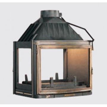 Fireplace Seguin-Panoramic-туннель-с-боковым-стеклом
