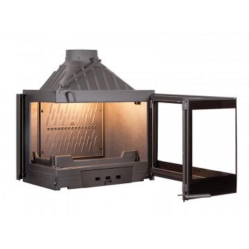Fireplace Seguin EUROPA 7 EVOLUTION - BLACK LINE с боковым стеклом