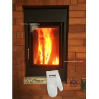 Kharkov. Furnace with a firebox Brunner HKD 2.2 classic facing fireproof brick. Examples of works.