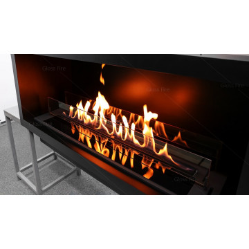 Bio Fireplace Gloss Fire Slider glass