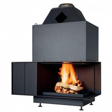 Fireplace Urfeuer® Klassik 50/66/44 L Открытая угловая топка Brunner