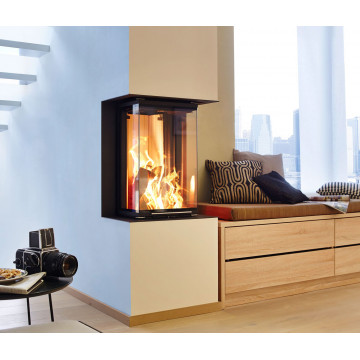 Fireplace Kiev buy Brunner Panorama 70/25/40/25 three-way firebox