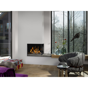Gas fireplaces Bellfires Corner Bell Small