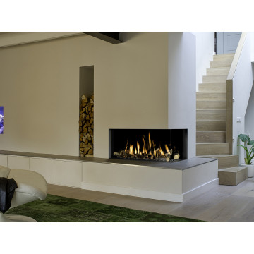 Gas fireplaces Bellfires Corner Bell Medium