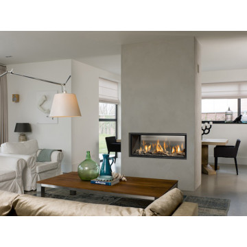 Gas fireplaces Bellfires Horizon Bell Small Tunnel