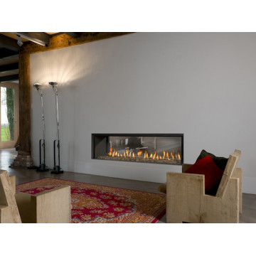 Gas fireplaces Bellfires Horizon Bell Large Tunnel