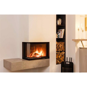 Fireplace insert Brunner 42/57/30 Eck-Kamine left side-opening
