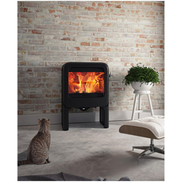 Buy cast iron stove stove Kharkov - Dovre ROCK 350 TB ( White / Black Grey )