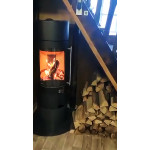 Stove-fireplace in Kharkiv HAAS & SOHN OVALIS GRANDE with installation.