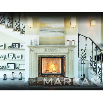"Marble fireplace portal Markam ""Oles"" - Buy in Kharkiv-Facing of the fireplace and stove"